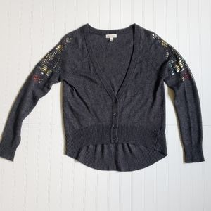 Silence & Noise UO jeweled button up cardigan